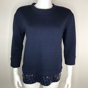 J. Crew Sweaters - J Crew Sequined Hem Sweatshirt Crew Top